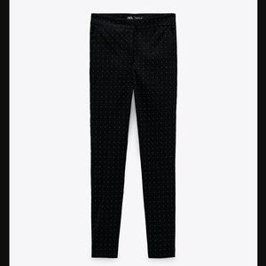 🔥MOVING SALE🔥ZARA POLKA DOT PANTS Black
